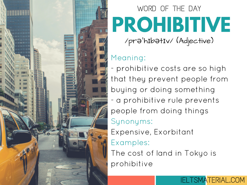 Prohibitive – Word Of The Day For IELTS