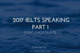 2017 IELTS Speaking Part 1