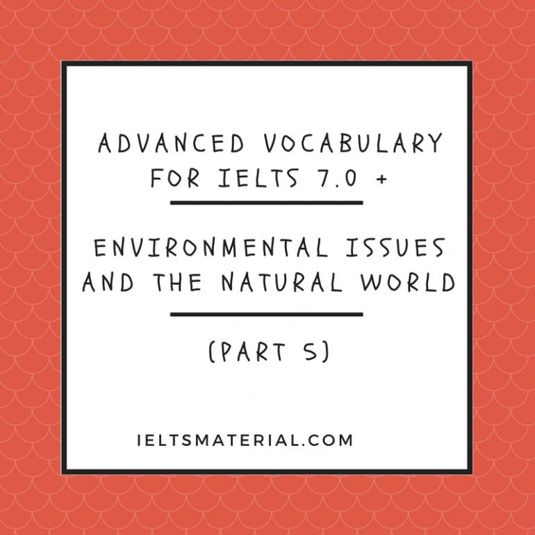 IELTS Vocabulary Practice Exercise for IELTS Academic & IELTS
