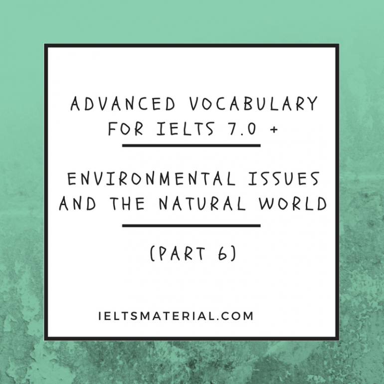 IELTS Vocabulary Practice Exercise for IELTS Academic