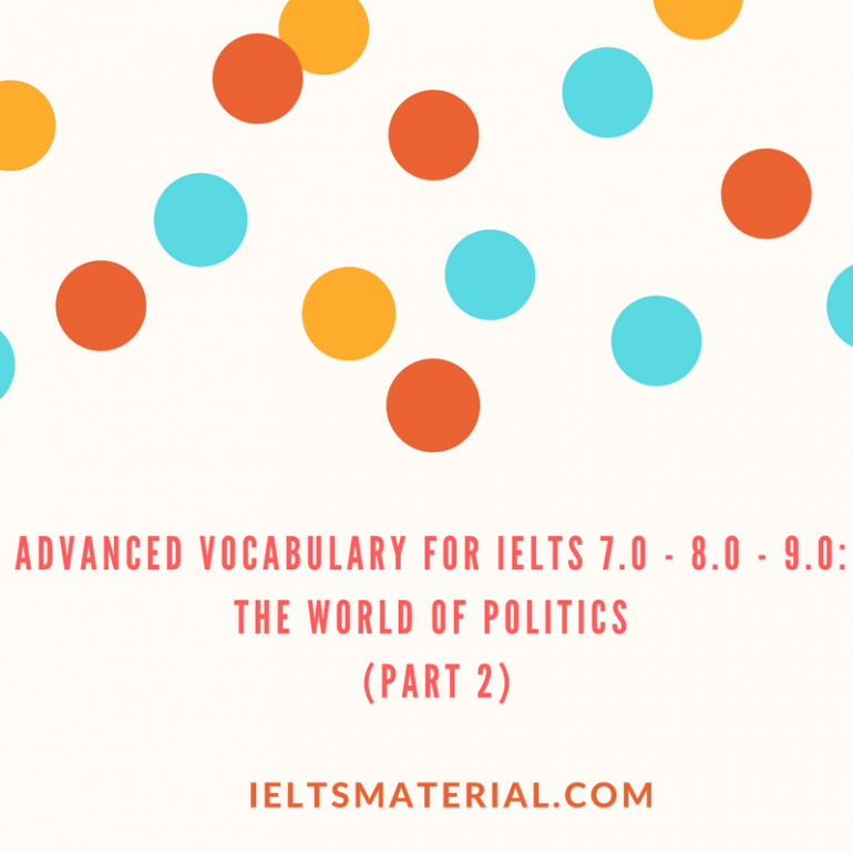 Advanced Vocabulary for IELTS 7.0 8.0 9.0 THE WORLD OF POLITICS Practice Exercises and Answer Key Part 1 1