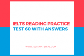 IELTS Reading Practice Test 60
