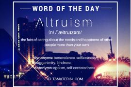 WOTD Altruism