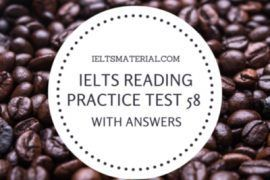 IELTS Reading Practice Test 58