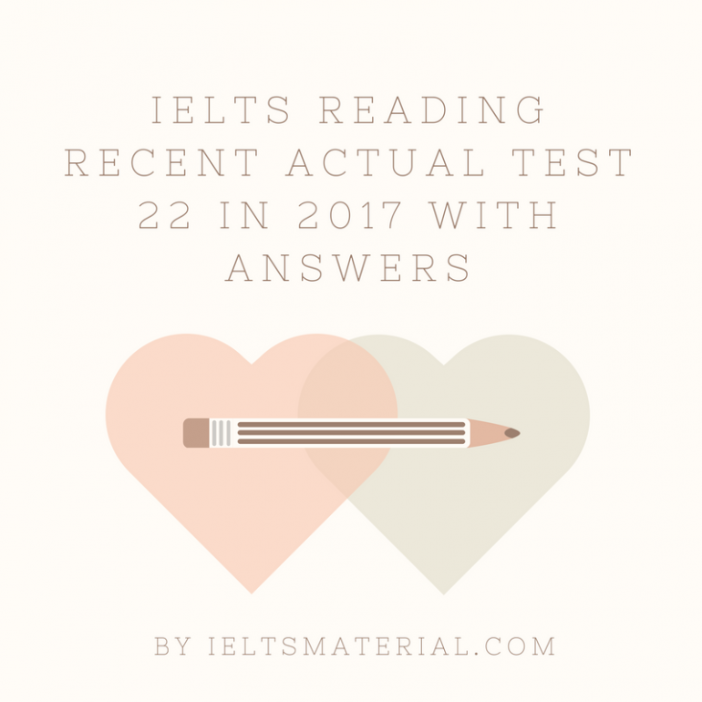 IELTS Reading Recent Actual Test 16 In 2017 With Answer Key