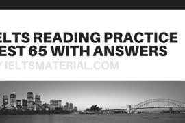 IELTS Reading Practice Test 01Solution - Free IELTS Practice