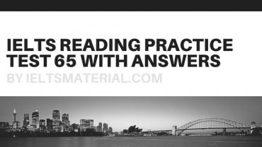 IELTSMaterial.com - IELTS reading practice test