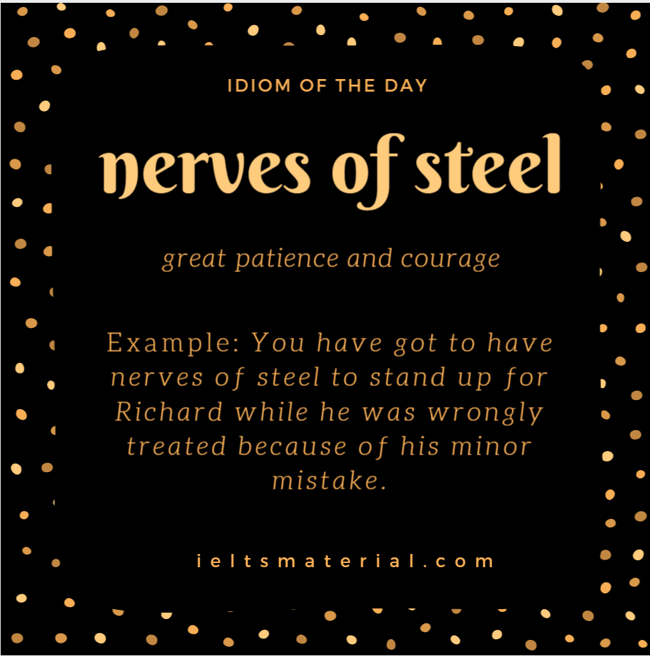 IOTD nerves of steel