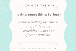 IOTD to bring something to bear