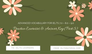 Practice Exercises & Answer Key (Part 5)