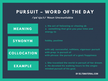 Pursuit – Word Of The Day