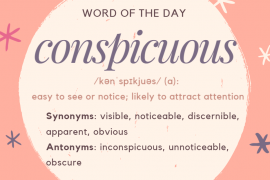 WOTD Conspicuous