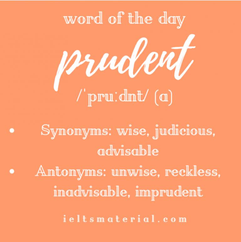 WOTD prudent