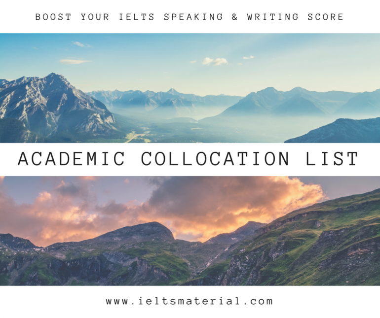 ieltsmaterial.com - academic collocation list