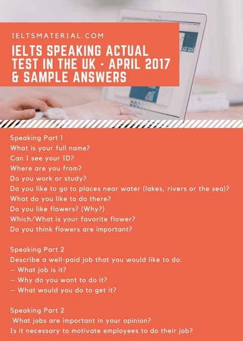 IELTS Speaking Actual Test in the UK - April 2017 & Sample Answers