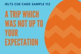 Ieltsmaterial.com - IELTS Cue Card Sample 112 Topic: Describe a trip which was not up to your expectations.