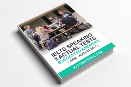 IELTS Speaking Actutal Test & Suggested Answers Cover