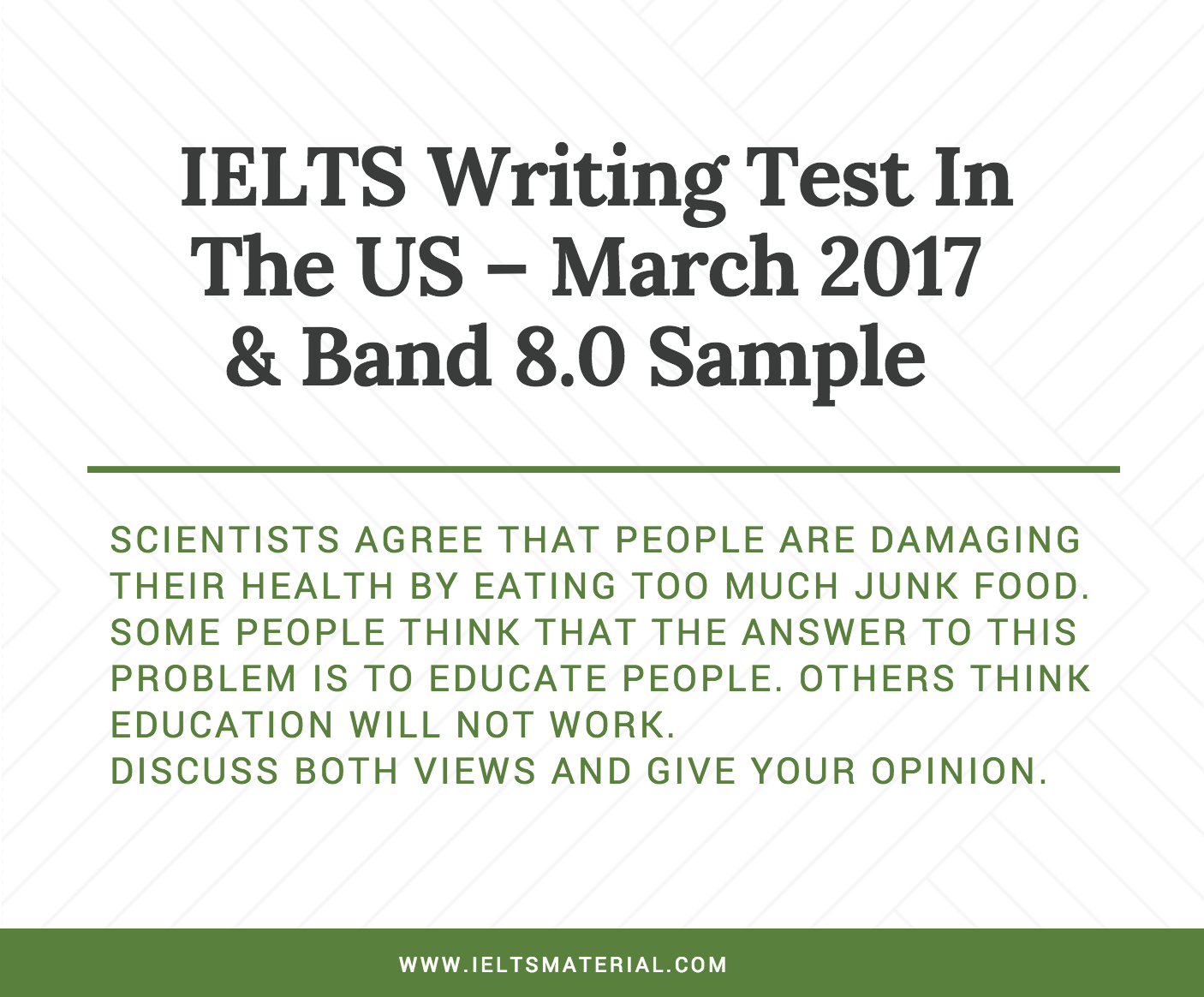 essay typing test Purpose of the test the ielts writing test is designed to assess a wide range of writing skills, including how well you write a response appropriately organise ideas use a range of vocabulary and grammar accurately this is the case for whichever version of the ielts test you are taking.