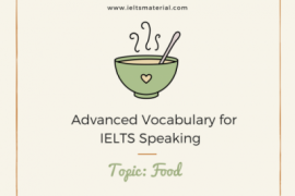 Advanced Vocabulary for IELTS Speaking