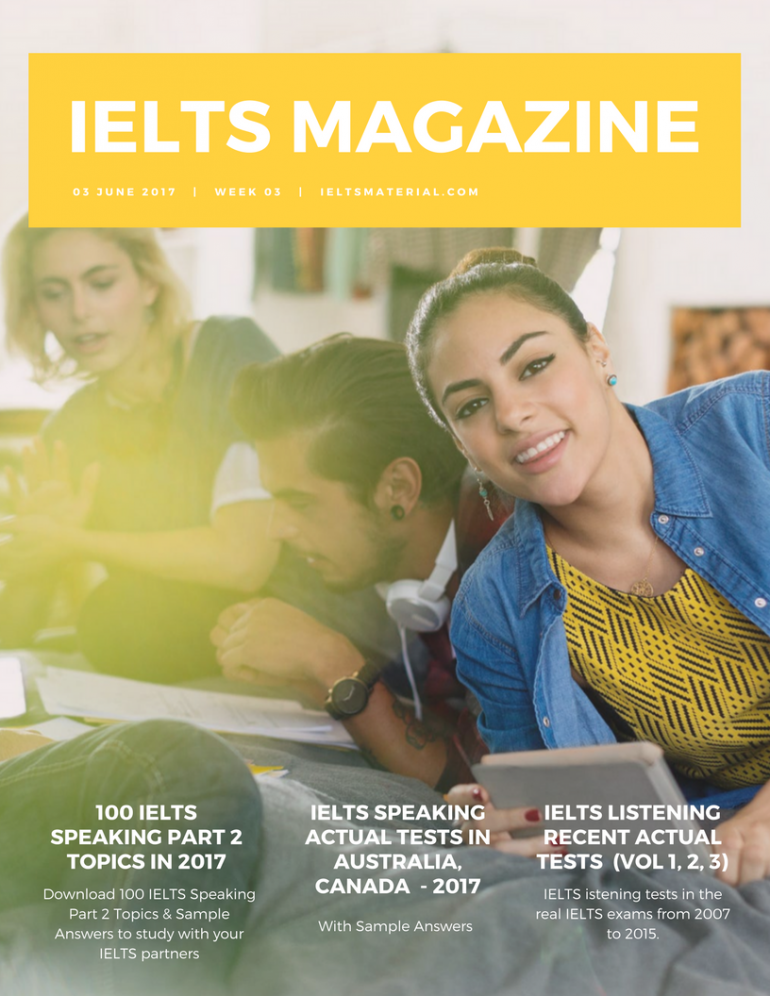 IELTS Magazine – Week 3 (PDF) with IELTS Lessons/Books/Tips/Samples