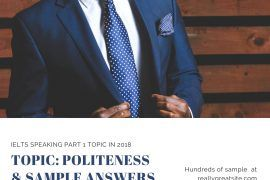 ielts speaking part 1 topic in 2018 - politeness