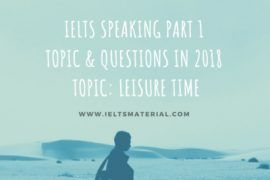 ielts speaking part 1 topic leisure time