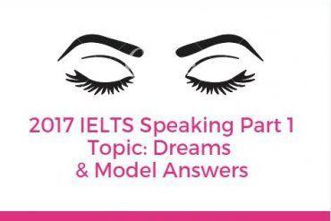 speaking part 1 topic dreams
