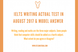 ielts writing test and sample answers
