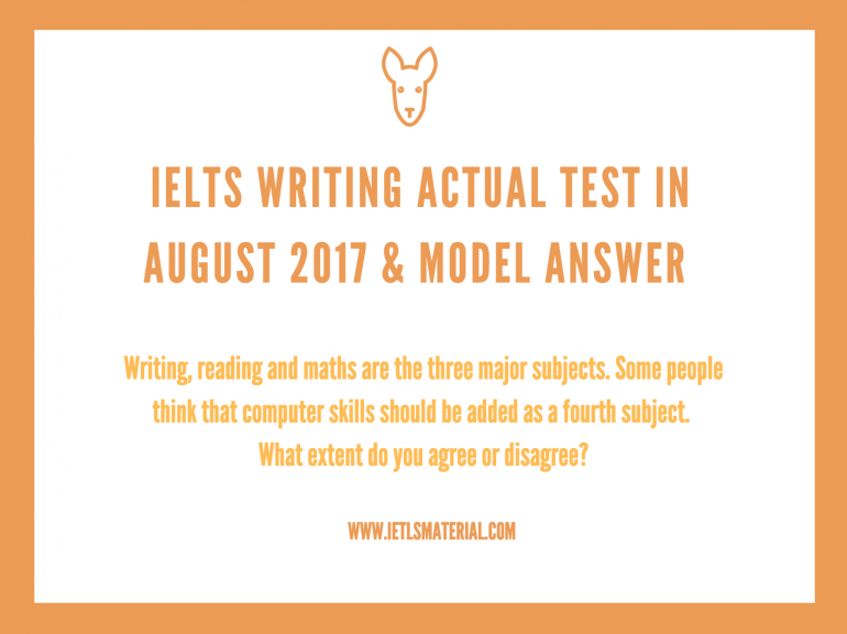 practice test for ielts writing answer