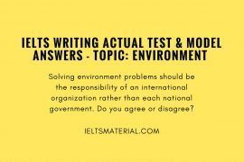 IELTS Writing Actual Test In August 2017 & Model Answer – Topic- Subject
