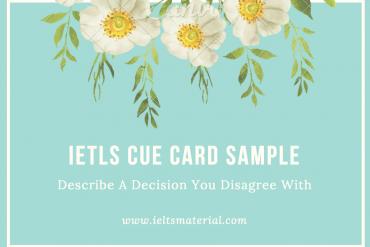 ielts speaking part 2 sample