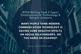 ielts writing task 2 topic communication technology & sample answer