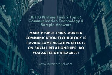 ielts writing task 2 topic communication technology & sample answer