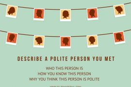 Describe a polite person you met