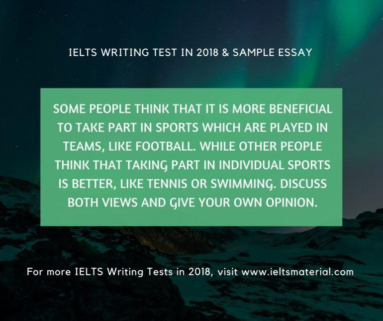 ielts writing test in 2018