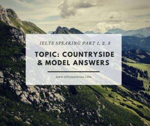 Topic & Questions_ Countryside & Model Answers