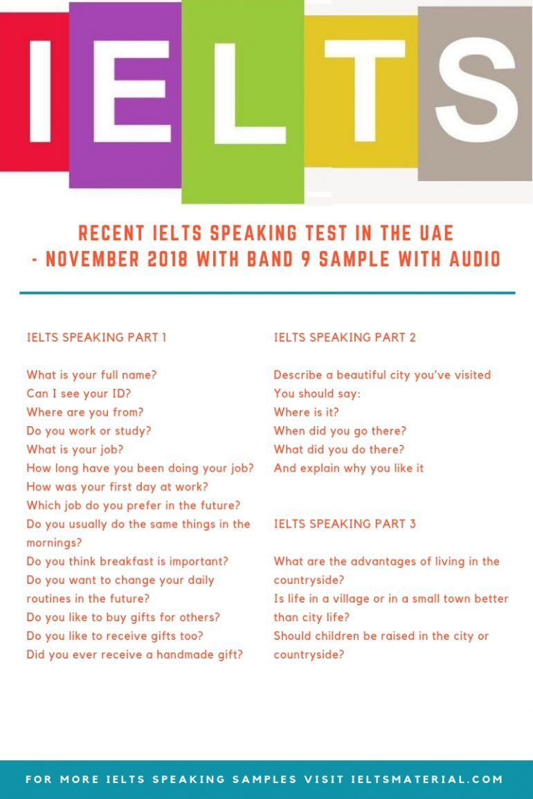 IELTSMATERIAL.COM - IELTS Speaking Test in the UAE