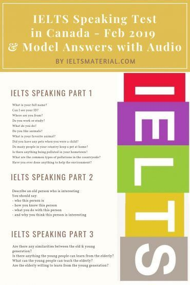 IELTS Speaking Canada