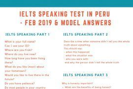 IELTS Speaking Test in Peru