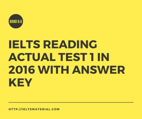 IELTS-Reading-Actual-Test-in-2016-with-Answer-Key-