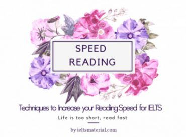 ielts reading speed reading tips