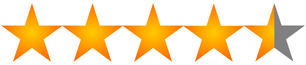 4.5 stars rating