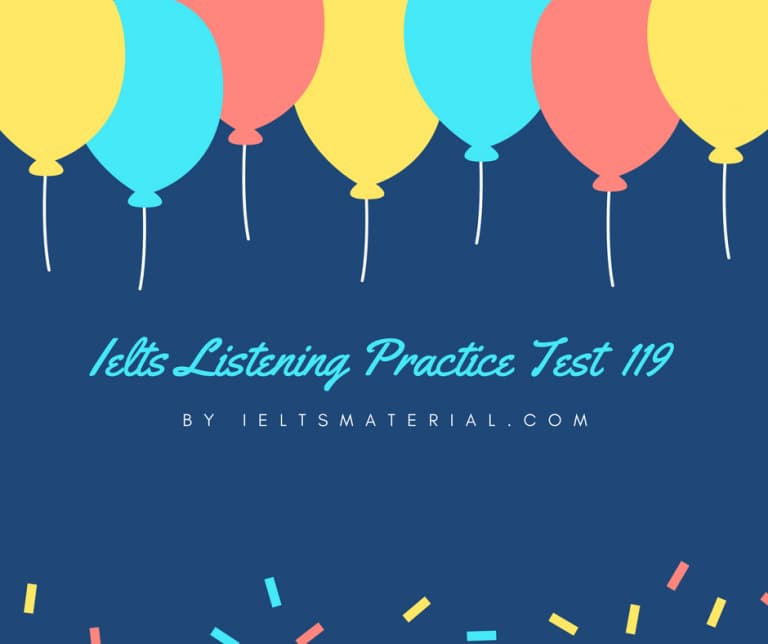 IELTS Listening Practice Test 119