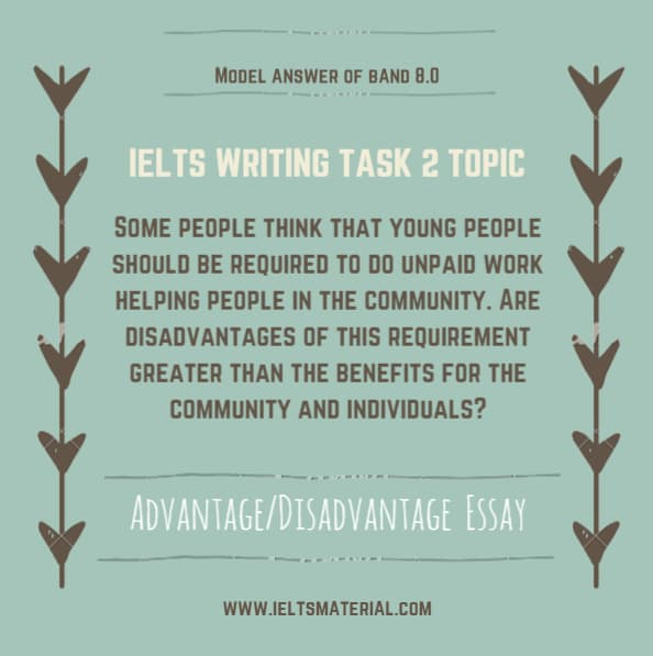 IELTS Writing Task 2 Advantage/Disadvantage Essay of Band 8.0– Topic: Youth & Community