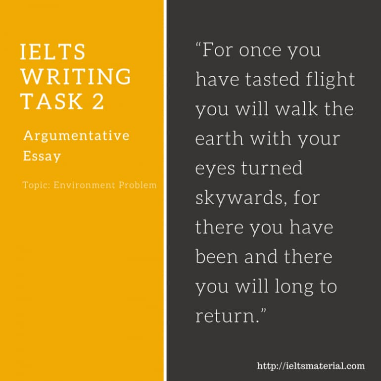 IELTS Writing Task 2 Argumentative Essay of Band 8.0 - Environment Topic