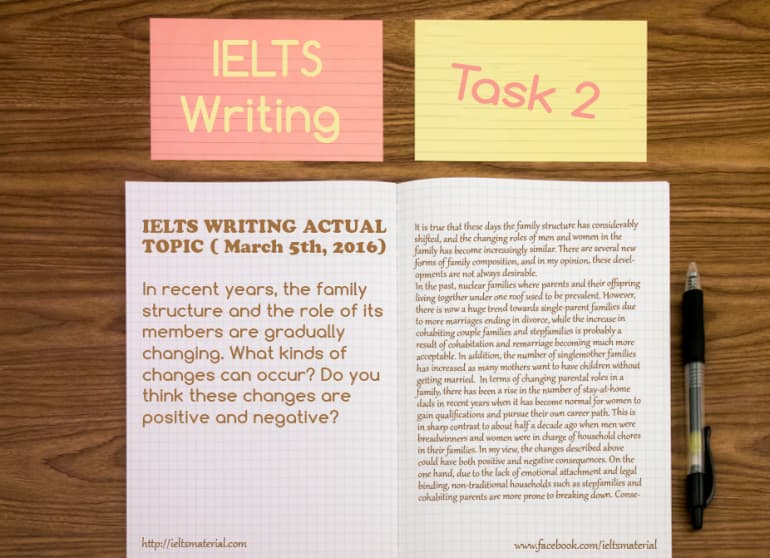 IELTS Writing Actual Test (March 5th, 2016) - Topic: Family