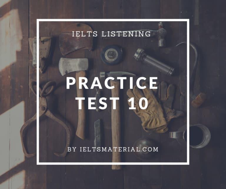 IELTS Listening Practice Test 10