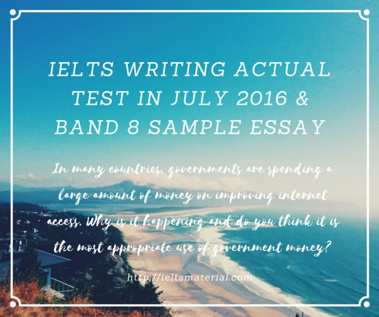 IELTS Writing Actual Test in July 2016 & Band 8.0 Sample Cause/Solution Essay