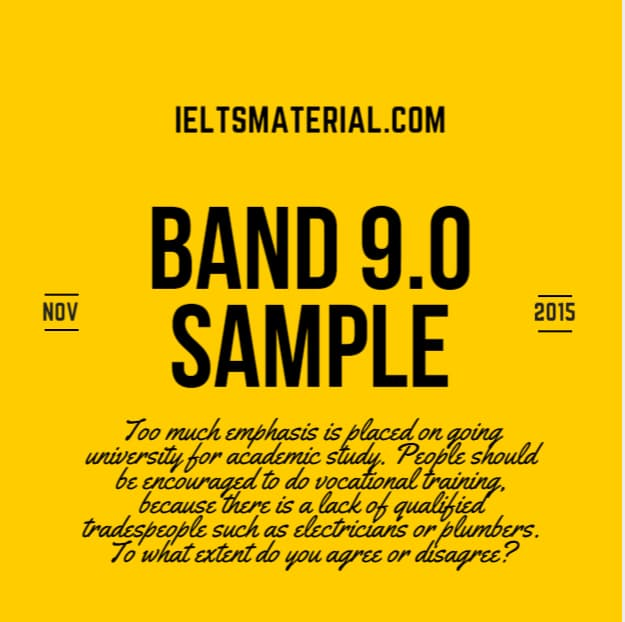Academic IELTS Writing Task 2 Topic (November, 2015) & Band 9.0 Model Answers