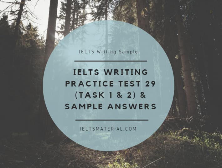 IELTS Writing Practice Test 29 (Task 1 & 2) & Sample Answers